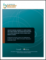 YMCA of Greater Vancouver - Understanding barriers to employment & employment program participation for Lower Mainland youth living with mental illness